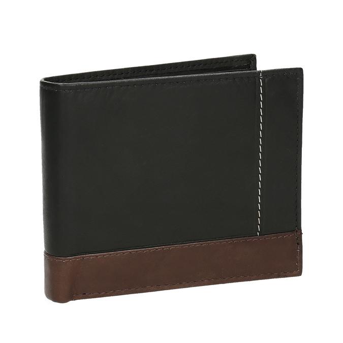 Men's leather wallet, black , 944-6149 - 13