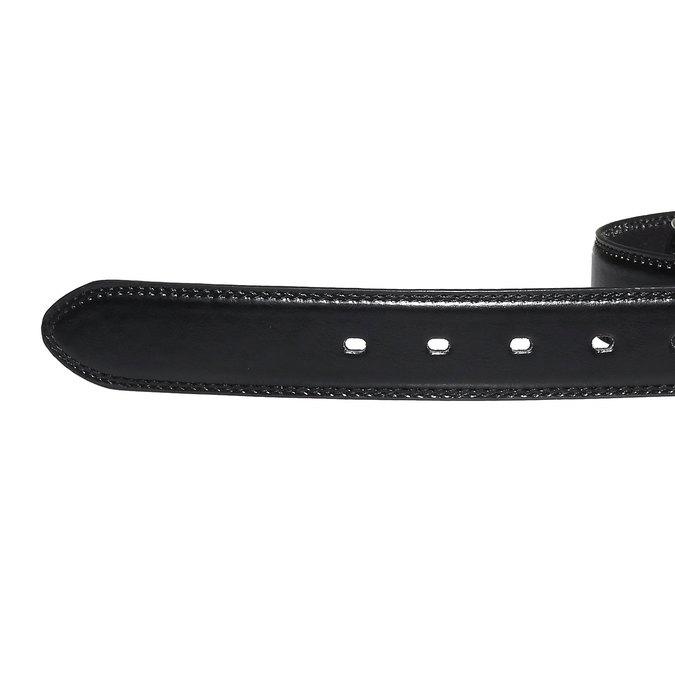 Men's Leather Belt bata, black , 954-6121 - 16