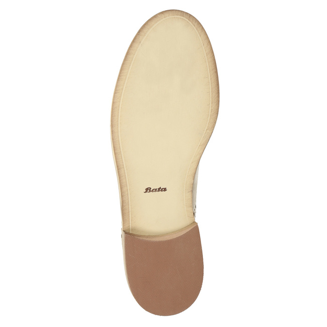 Ladies´ leather shoes with decorations bata, beige , 524-8482 - 26