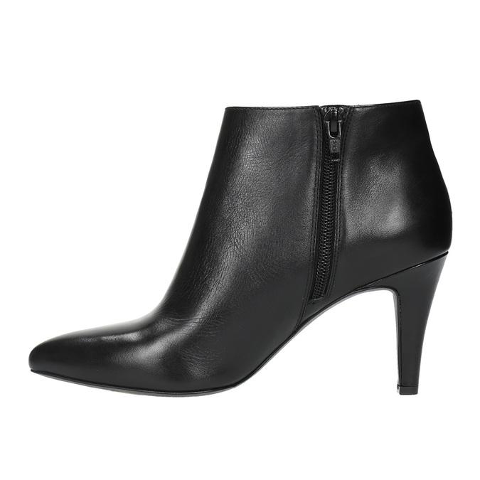 Ladies' ankle shoes insolia, black , 794-6629 - 26