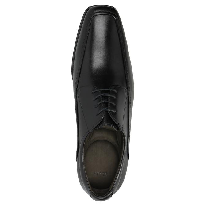 Black leather shoes bata, black , 824-6724 - 19