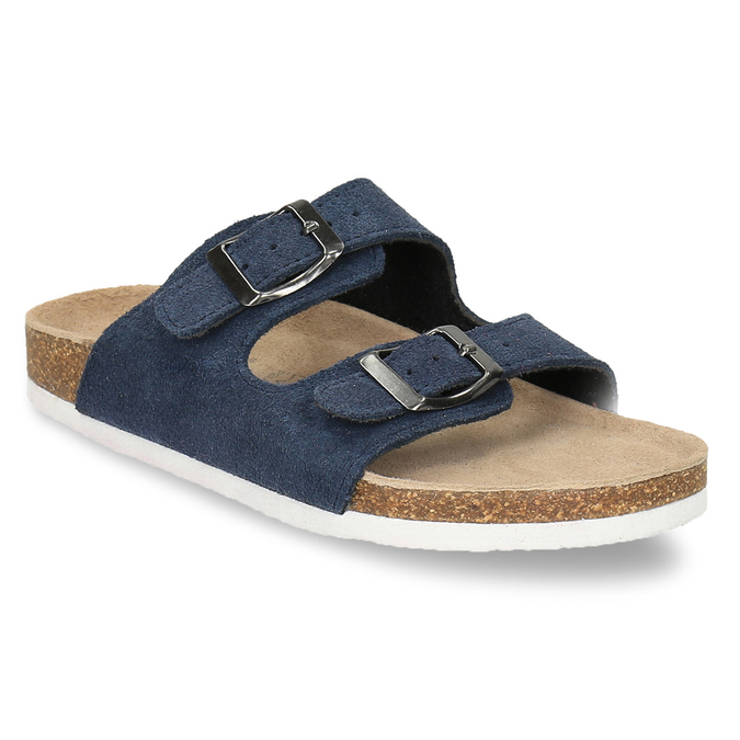 Children's blue slippers, blue , 373-9600 - 13