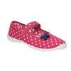 Children's slippers with a strap across the instep mini-b, pink , 379-5209 - 13