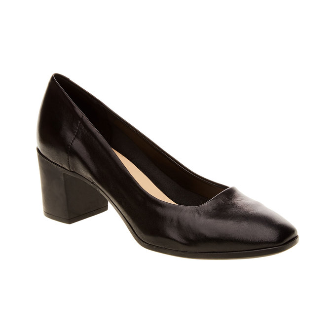 Leather Pumps flexible, black , 624-6706 - 13