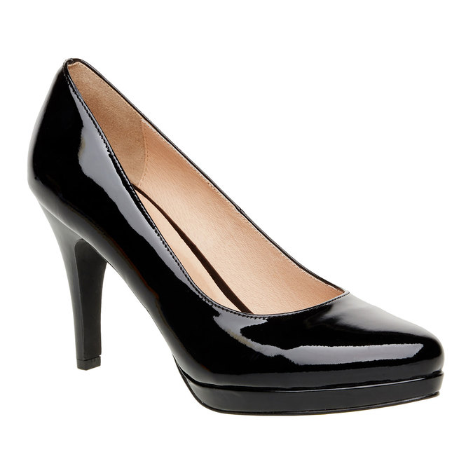 Patent leather pumps insolia, black , 728-6104 - 13
