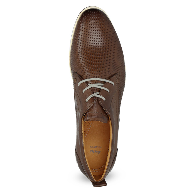 Casual leather sneakers bata, brown , 824-4124 - 17