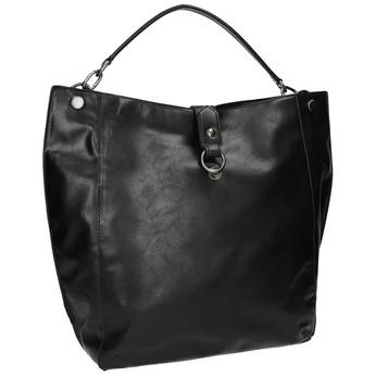 Black Hobo-style handbag bata, black , 961-6808 - 13