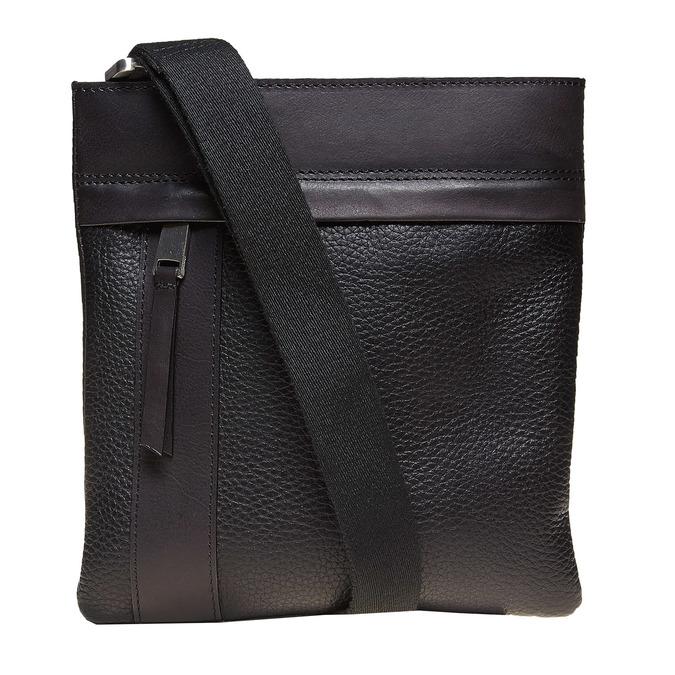 Leather cross body bata, black , 964-6131 - 26