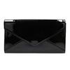 Black women's clutch bag in a lacquered finish bata, black , 961-6624 - 19