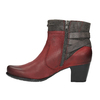 Ladies´ ankle-cut shoes with warm padding bata, red , 696-5617 - 26