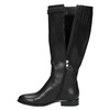 Ladies' leather high boots with a buckle bata, black , 596-6630 - 19