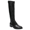 Leather high boots with eye-catching zip bata, black , 596-6631 - 13