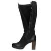 Leather platform high boots bata, black , 796-6632 - 19