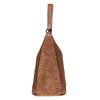Brown leather handbag bata, brown , 964-3254 - 19