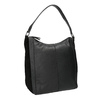 Hobo-style black leather handbag, black , 964-6254 - 13