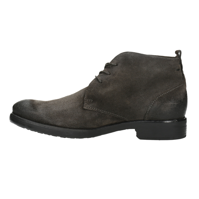 Brushed leather ankle boots bata, gray , 846-6611 - 26