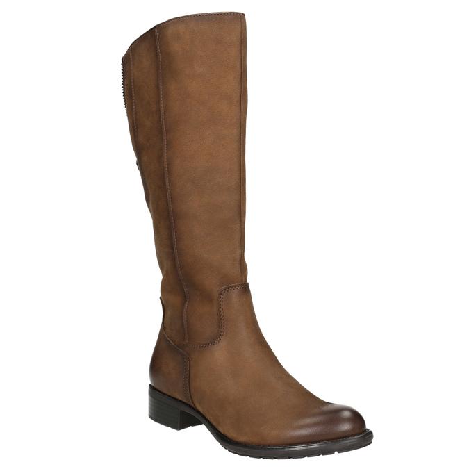 Brown leather Cossacks bata, brown , 596-4604 - 13