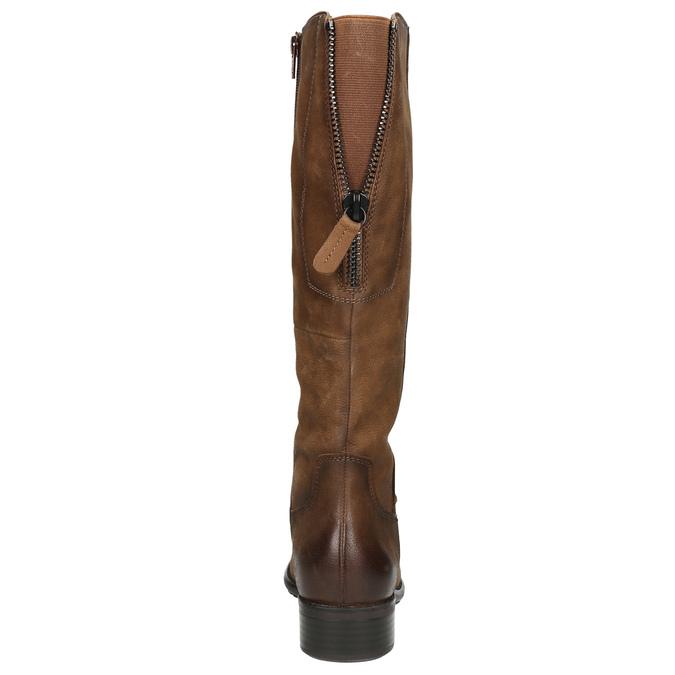 Brown leather Cossacks bata, brown , 596-4604 - 17