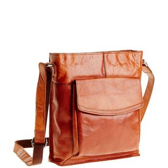 Men´s leather Crossbody bag bata, brown , 964-3141 - 13