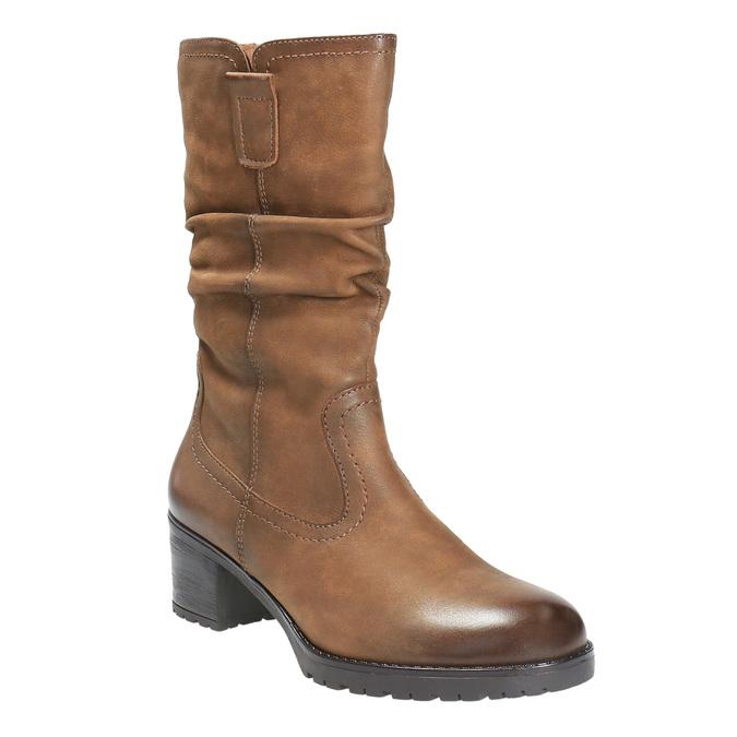 Ladies' ankle shoes bata, brown , 696-3127 - 13