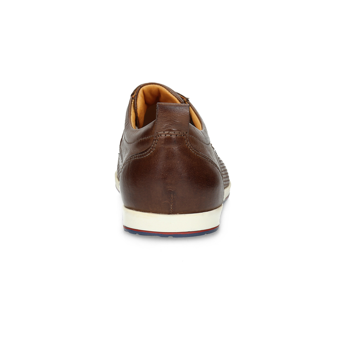 Casual leather sneakers bata, brown , 824-4124 - 15