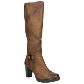 Women's high boots bata, brown , 796-4601 - 13