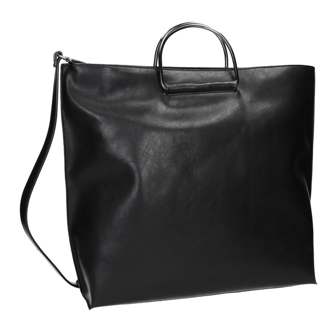 Ladies' handbag with metal handles bata, black , 961-6789 - 13