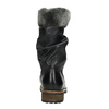 Children's leather high boots mini-b, black , 394-6191 - 17