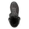 Leather ankle sneakers with fur bata, gray , 593-2601 - 19