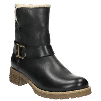 Ladies´ boots with fur bata, black , 594-6609 - 13