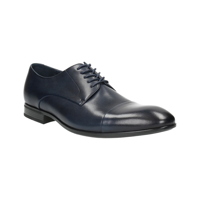 Blue leather shoes bata, blue , 826-9769 - 13