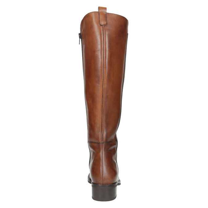 Ladies' leather Cossacks bata, brown , 594-3586 - 17