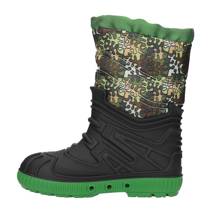 Children's insulated winter snow boots mini-b, green, 392-7200 - 26