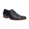 Patterned leather shoes bata, blue , 826-9813 - 13