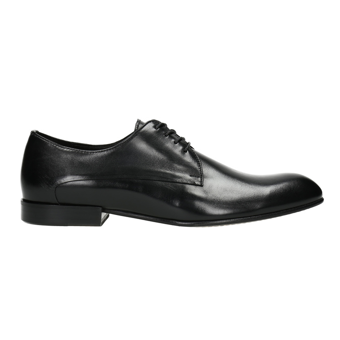 Black leather shoes conhpol, black , 824-6861 - 15