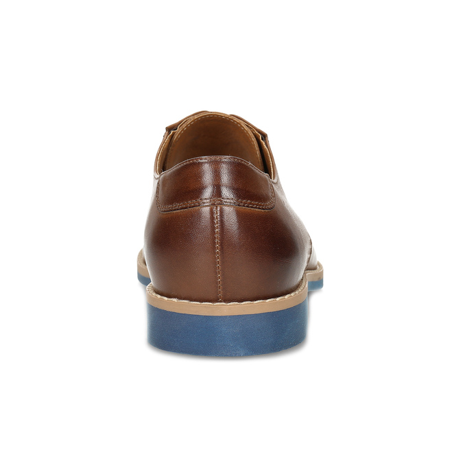 Leather shoes with a distinctive sole conhpol, brown , 824-3857 - 15