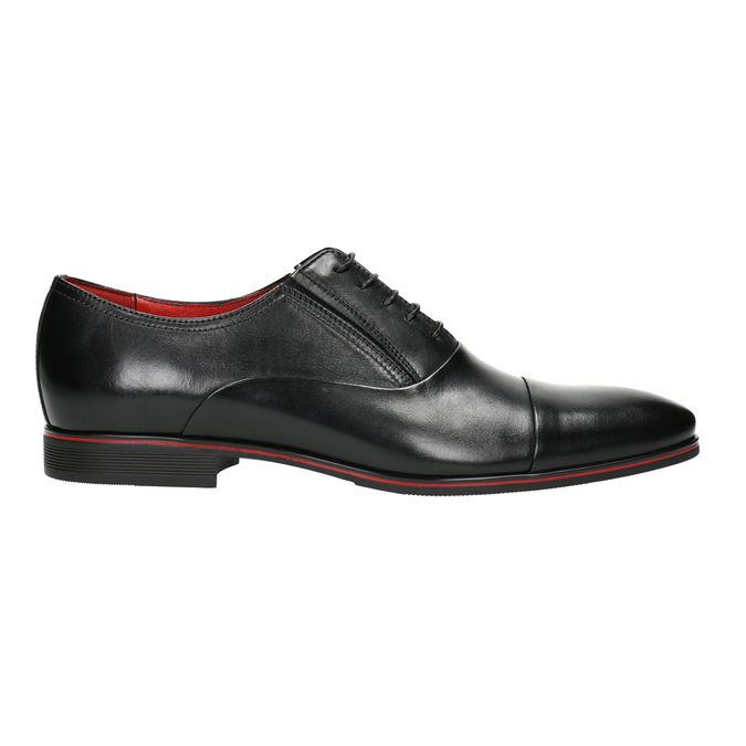 Black leather Oxford shoes conhpol, black , 824-6868 - 15