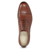 Brown leather Oxford shoes vagabond, brown , 824-3048 - 17