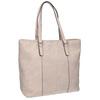 Pink handbag with perforated detail bata, pink , 961-5711 - 13