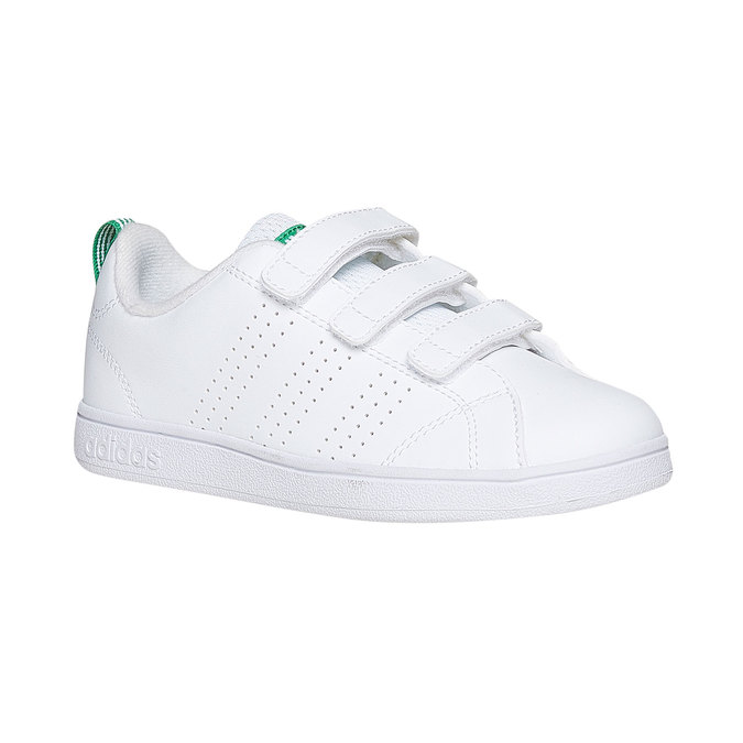 Children's sneakers in white with velcro fastening adidas, white , 301-1168 - 13