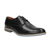 Leather shoes with striped sole bata, black , 826-6790 - 13