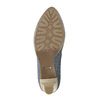 Ladies´ leather pumps with perforations pillow-padding, blue , 726-9642 - 26
