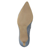 Leather court shoes with perforations pillow-padding, blue , 626-9636 - 26