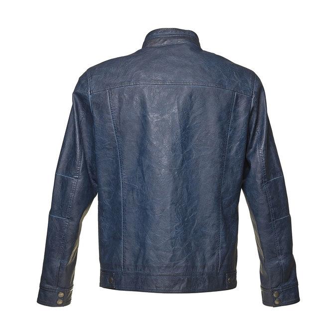 Men's artificial leather jacket bata, blue , 971-9194 - 26
