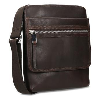 Leather crossbody bag bata, brown , 964-4237 - 13