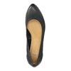 Leather pumps with a wedge heel bata, black , 626-6638 - 19