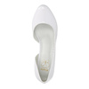 White leather pumps with cut-outs insolia, white , 728-1637 - 19