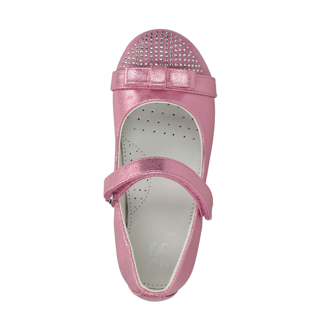 Pink ballet pumps with strap across instep mini-b, pink , 221-5179 - 19
