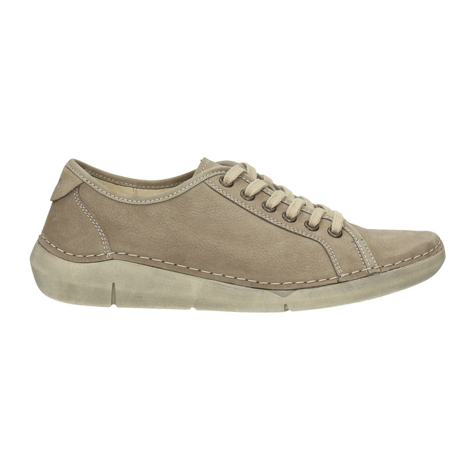 Casual leather low shoes weinbrenner, beige , 546-2603 - 15