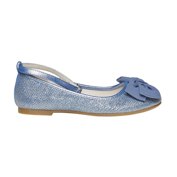 Girls' blue ballet pumps mini-b, blue , 329-9241 - 15